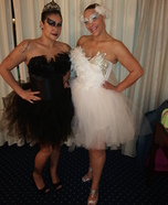 Black Swan and White Swan costumes