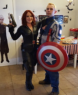 Black Widow and Captain America Homemade Costume