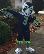 Blitz the Seattle Seahawk Homemade Costume