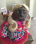 Blonde Cat Homemade Costume