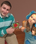 Blue and Steve from Blue's Clues Homemade Costume