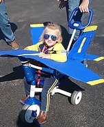 Blue Angels Pilot and Airplane Homemade Costume