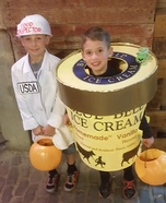 Blue Bell & the Food Inspector Homemade Costume