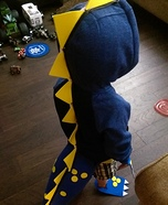 Blue Dino Homemade Costume