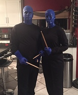 Blue Man Group Couple Homemade Costume