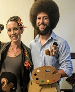 Bob Ross and Happy Little Tree Homemade Costume