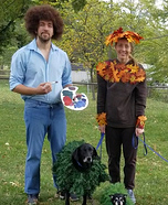 Bob Ross and his Happy Little Trees Homemade Costume