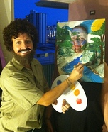 Bob Ross and his Happy Tree Costume