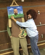Bob Ross and His Painting Homemade Costume