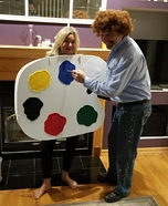 Bob Ross and his Palette Homemade Costume