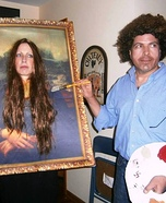 Bob Ross & Mona Lisa Homemade Costume