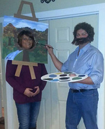 Bob Ross & Painting Homemade Costume