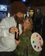 Bob Ross & The Happy Tree Homemade Costume