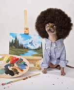 Bob Ross Cat Costume