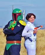 Boba Fett and Princess Leia Homemade Costume