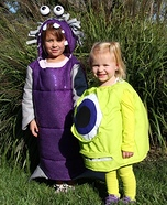 Boo and Mike Wazowski Homemade Costume