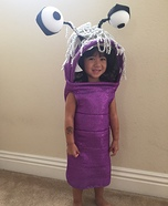 Boo Monsters Inc Toddler Homemade Costume