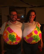 DIY Boobs Couples Costume