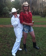 Boss Hogg and Daisy Duke Couple Costume