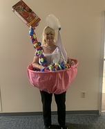 Bowl of Froot Loops Homemade Costume
