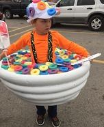 Bowl of Fruit Loops Homemade Costume
