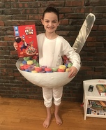 Bowl of Fruit Loops Homemade Costume