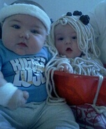 Bowl of Spaghetti and Biggest Loser Baby Costumes