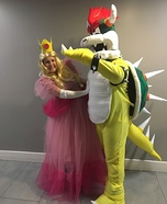 Bowser and Peach Homemade Costume