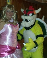 Bowser and Princess Peach Homemade Costume
