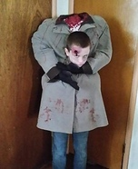 Boy holding his severed Head Homemade Costume