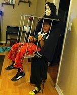 Boy in a Cage Homemade Costume