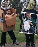 Boy in Box and Boy in Cage Homemade Costumes