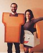 Brave Little Toaster & Toast Homemade Costume
