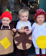 Costume ideas for baby's first Halloween - DIY Breakfast Food Costumes