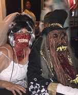 Bride and Ghoul Couple Homemade Costume
