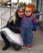 Bride of Chucky and Chucky Homemade Costume