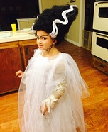 Bride of Frankenstein Girl Homemade Costume