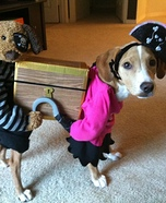 Pirates Carrying a Treasure Chest Costume for Dogs