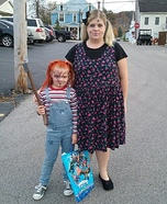Broken Doll and Chucky Doll Homemade Costume