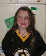 Bruins Player with missing Teeth Homemade Costume