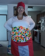 Costume ideas for pregnant women - DIY Bubble Gum Machine Costume