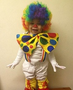 Bubbly Baby Clown Homemade Costume