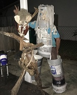 Bucket Man Homemade Costume