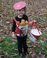 Bucket of KFC Chicken Homemade Costume