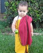 Buddhist Monk Baby Homemade Costume
