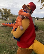Buddy the Baby T Rex Homemade Costume