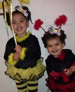 Bumble Bee and Lady Bug Homemade Costumes