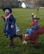 Bullrider and Rodeo Clown Homemade Costume