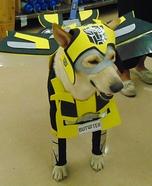Bumblebee Transformer Dog Homemade Costume