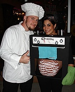Couples Halloween costume idea: Cook Chef and Bun in the Oven Costume